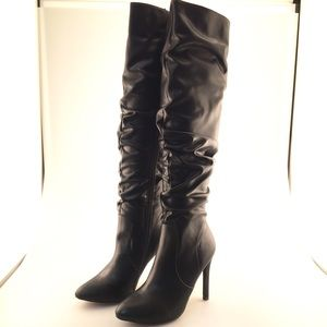 NWT Catherine Malandrino Black Stiletto Boots